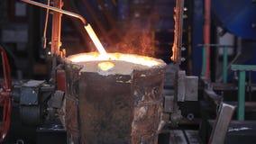 Metal melting, ladle stock footage