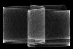 Metal Mesh. Computer generated metal mesh on black background Royalty Free Stock Image