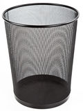 Metal Mesh Black Wastebasket Trash Can Stock Photo