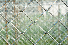 Metal mesh with blurred background Stock Image