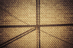 Metal mesh fence against wall Royalty Free Stock Photo