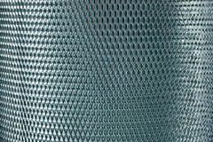Metal mesh grate gray Royalty Free Stock Photo