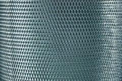 Metal mesh grate gray Royalty Free Stock Photo