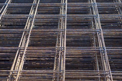 Metal mesh of iron rods Royalty Free Stock Photos