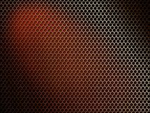 Metal Mesh On A Dark Background. Royalty Free Stock Photography