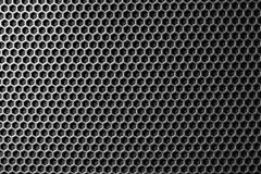 Metal mesh of speaker grill Stock Photos