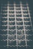 Metal mesh - step grid - Vintage Royalty Free Stock Image