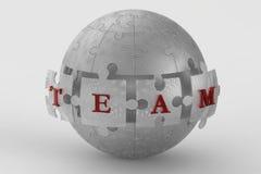 Metal mesh team puzzle globe Royalty Free Stock Images