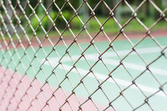 Metal mesh wire fence Royalty Free Stock Images