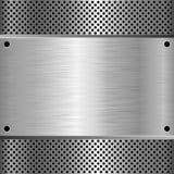 Metal. Textured background - vector illustration Stock Image