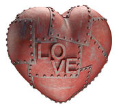 Metal miłość Obrazy Royalty Free
