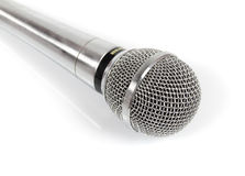 Metal microphone Stock Photo