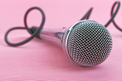 Metal microphone Stock Images