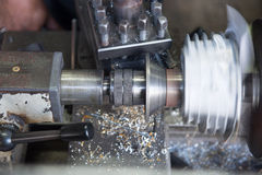 Metal milling machine Stock Images