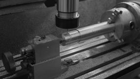 Metal Milling Machine stock footage