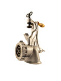 Metal mincer. On white background Royalty Free Stock Photos