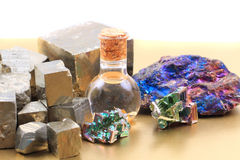 Metal mineral collection Stock Images