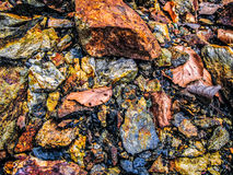 Metal mineral stones Royalty Free Stock Images