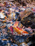 Metal mineral stones Royalty Free Stock Photos