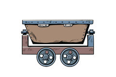 Metal mining trolley Stock Images