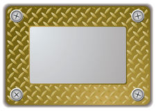 Metal mirror frame Stock Image