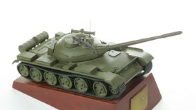 Metal model army tanks stock video