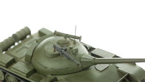 Metal model army tanks stock footage