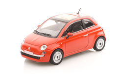 Metal model car with a sun roof. Royalty Free Stock Image