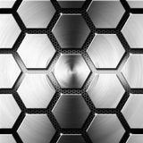 Metal Modern Background with Hexagons Stock Images