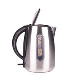 Metal modern kettle. Royalty Free Stock Photography