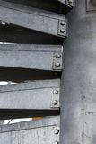 Metal modern spiral staircase Royalty Free Stock Image