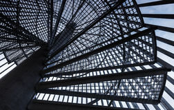 Metal modern spiral staircase Royalty Free Stock Images