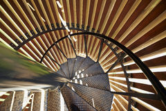 Metal modern spiral staircase details Royalty Free Stock Photography