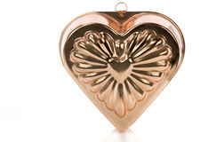 Metal mold heart shaped Stock Photography