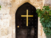 Metal Monastery Door Stock Images