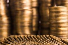 Metal monety na tle Obrazy Royalty Free