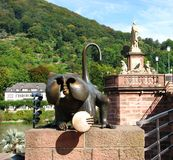 Metal Monkey at Heidelberg, Germany Stock Images