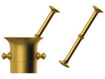 Metal mortar Stock Image