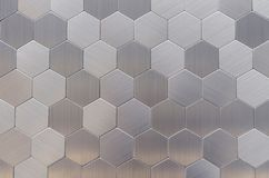 Metal mosaic tiles in a modern interior stock photography