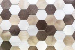 Metal mosaic tiles in a modern interior stock photos