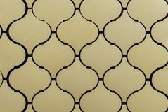 Metal mosaic tiles with patterns in a modern interior royalty free stock images