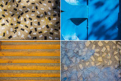 Metal and mosaic tiles texture Royalty Free Stock Photography