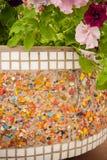 Metal and mosaic tiles texture Stock Photography