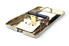 Metal mousetrap Royalty Free Stock Images