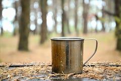 Metal mug Royalty Free Stock Images