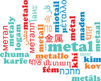 Metal multilanguage wordcloud background concept Stock Images