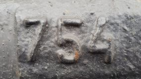 Metal número 754 Textura do metal oxidado sob a forma de figuras 754 Foto de Stock Royalty Free