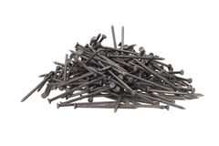 Metal nail head set isolated Royalty Free Stock Photography