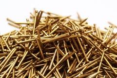 Metal nail. Heap of closeup metal nail Royalty Free Stock Image