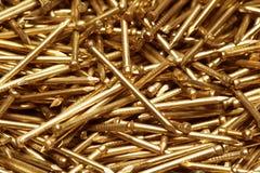 Metal nail. Texture of closeup metal nail Royalty Free Stock Photography